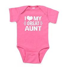 I Love My Great Aunt Baby Bodysuit