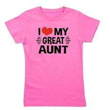 I Love My Great Aunt Girl's Tee