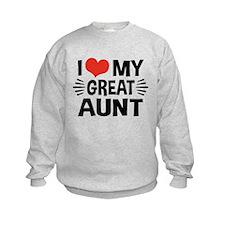 I Love My Great Aunt Sweatshirt