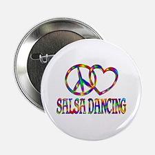 "Peace Love Salsa Dancing 2.25"" Button (10 pack)"