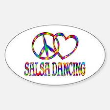 Peace Love Salsa Dancing Sticker (Oval)