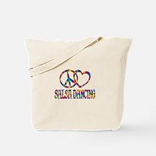 Peace Love Salsa Dancing Tote Bag