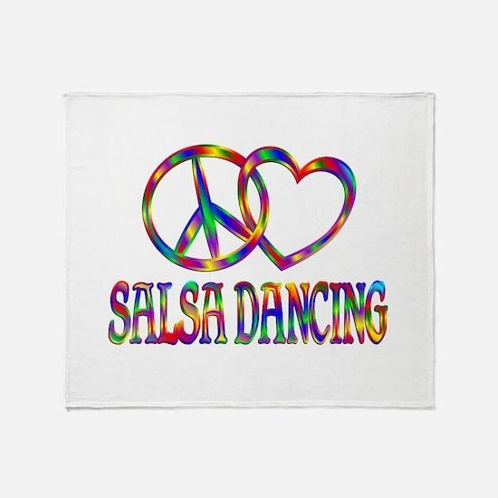 Peace Love Salsa Dancing Throw Blanket