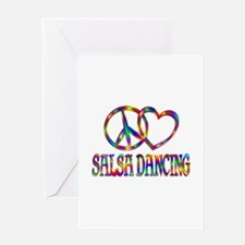 Peace Love Salsa Dancing Greeting Card