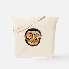 Neanderthal Man Head Etching Tote Bag