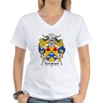Garategui Family Crest  Women's V-Neck T-Shirt
