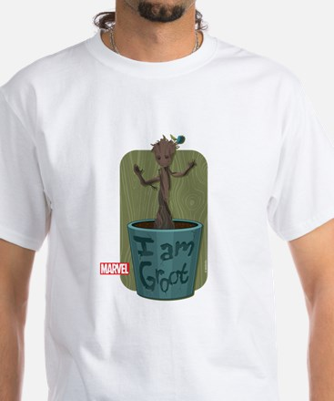 Guardians Baby Groot White T-Shirt
