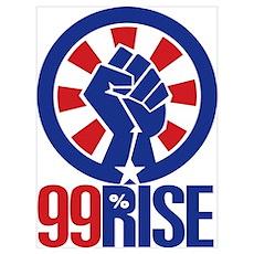 99Rise Logo Poster
