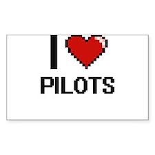 I Love Pilots Digital Design Decal