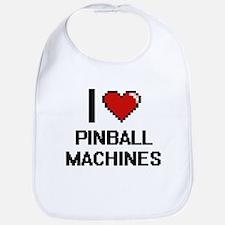 I Love Pinball Machines Digital Design Bib