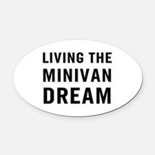 Living Minivan Oval Car Magnet