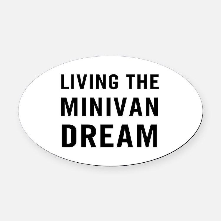 Living Minivan Oval Car Magnet