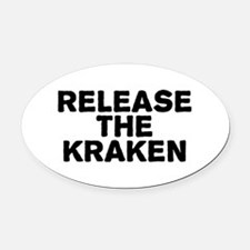 Release Kraken Oval Car Magnet