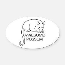 Awesome Possum Oval Car Magnet