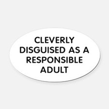 Cleverly Disguised Oval Car Magnet