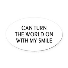 Can Smile Oval Car Magnet