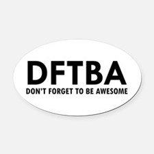 DFTBA Oval Car Magnet