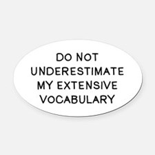Do Not Vocab Oval Car Magnet