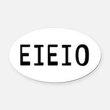 EIEIO Oval Car Magnet