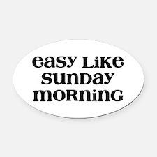 Easy Sunday Oval Car Magnet