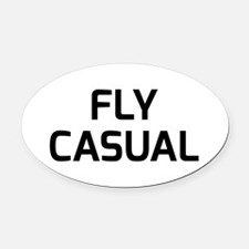 Fly Casual Oval Car Magnet