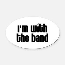 I'm With Band Oval Car Magnet