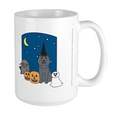 Blue Poodle Halloween Mug