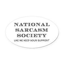 National Sarcasm Oval Car Magnet