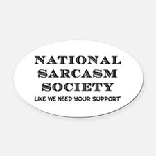 National Sarcasm Oval Car Magnet
