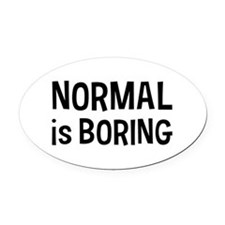 Normal Boring Oval Car Magnet
