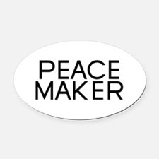 Peace Maker Oval Car Magnet