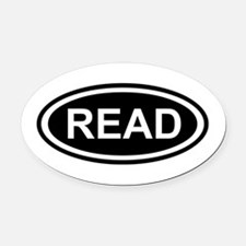 Read Oval Car Magnet