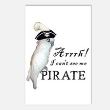 Pirate Cockatoo Postcards (Package of 8)