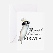 Pirate Cockatoo Greeting Card
