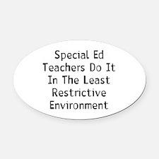 Special Teacher Oval Car Magnet