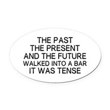 The Past Oval Car Magnet