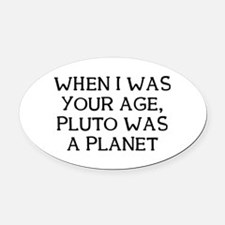When Pluto Oval Car Magnet