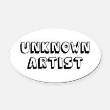Unknown Artist Oval Car Magnet