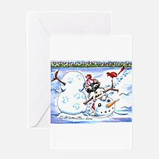Funny Standard schnauzer christmas Greeting Card