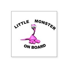 "Cute Humorous baby on board Square Sticker 3"" x 3"""