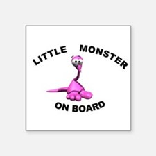 "Cute Baby on board Square Sticker 3"" x 3"""