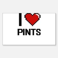 I Love Pints Digital Design Decal
