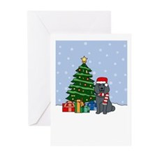 Poodle Happy Holidays Greeting Cards (Pk of 10)