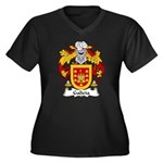 Galicia Family Crest Women's Plus Size V-Neck Dark