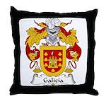 Galicia Family Crest Throw Pillow