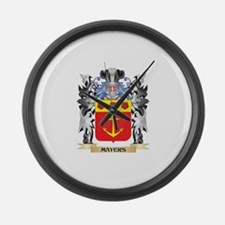 Mayers Coat of Arms - Family Cres Large Wall Clock