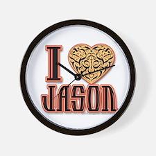 I Love Jason Wall Clock