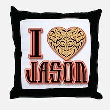 I Love Jason Throw Pillow