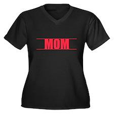 Red Line Mom V-Neck Plus Size T-Shirt