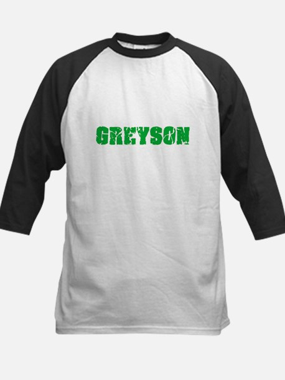 Greyson Name Weathered Green Desig Baseball Jersey